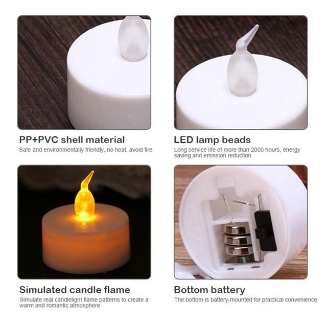 24Pcs LED Candle Tea Light