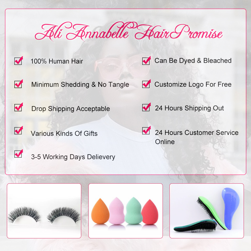 ALI ANNABELLE Malaysian Hair Weave 3 Bundles With Lace Closure Free Part Body Wave Human Hair Bundles With Closure Remy Hair