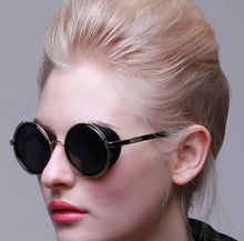 Steampunk Round Fashion Sunglasses Women Men Brand