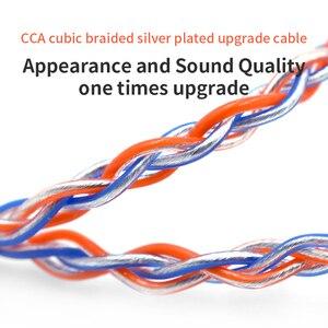 Image 4 - CCA C2 8 rdzeń pomarańczowy niebieski Braded srebrny CableUpgraded kabel warstwowy słuchawkowy uaktualnienie dla KB10 KB06 A10 C10 CA4 KZ AS16 AS10 AS12