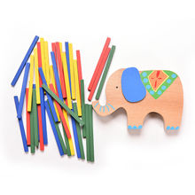 Baby Toys Educational Elephant/Camel Balancing Blocks Wooden Toys Beech Wood Balance Game Montessori Blocks Gift For Child