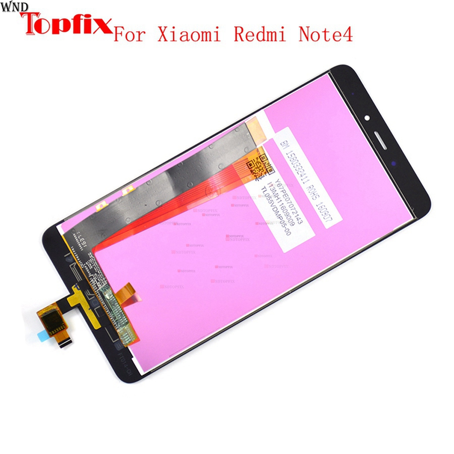 Redmi Note 4 LCD digitizer LCD component screen touch replacement For Xiaomi