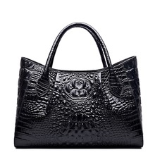 QISU Ladies Embossed Crocodile Anywhere Convertible Leather Tote Bag Designer Top-handle Handbags
