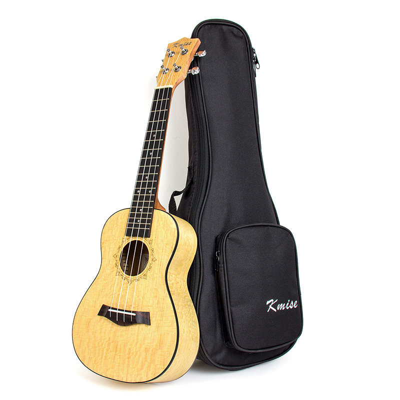 Kmise Concert Ukulele Ukelele Uke Pearl Wood 23 inch 18 Frets 4 String Hawaii Guitar with Gig Bag kmise soprano ukulele spruce 21 inch ukelele uke acoustic 4 string hawaii guitar 12 frets with gig bag