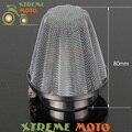 42mm de Acero Inoxidable Del Filtro de Aire del Cuello Staight Para 120 140 150 200 250CC ATV Scooter Buggy Go Kart Chino Pit Bike Enduro