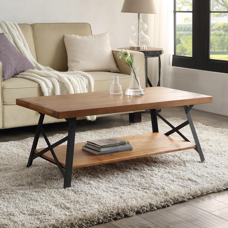 Table basse moderne en bois de Rectangle de COSTWAY pour la décoration à la maison de meubles de salon de haute qualité WF036984