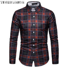 High Quality Oxford Shirt Men Long Sleeve Formal Business Smart Casual Men Shirt Social Button-Down Dress Shirt rvca men s that ll do oxford shirt