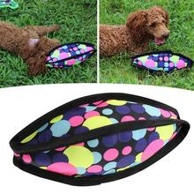 Игрушки для собак Прочный Холст Красочные в форме мяча для регби игрушки для собак Домашние животные креативные игрушки для собак собака, обучающая игрушка игрушки для щенка для жевания