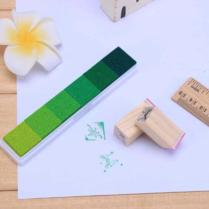6 colores Inkpad artesanía de bricolaje hecha a mano colorido sello dedo impresión Scrapbooking sellado almohadilla de tinta accesorios gradiente niños sello