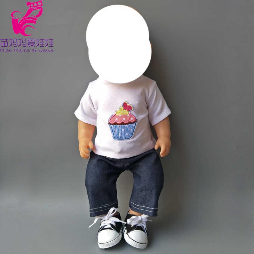 """Куклы для маленьких мальчиков белая рубашка и джинсы брюки 18 """"Девушка Кукла аксессуар детские игрушки"""