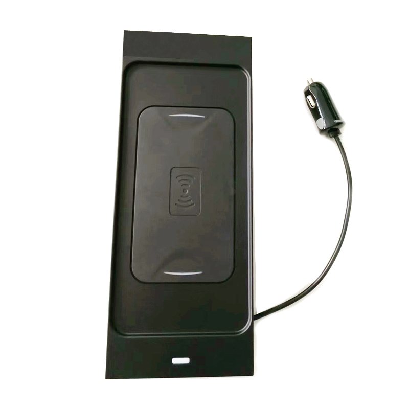 10 Вт QI Беспроводное зарядное устройство для мобильного телефона зарядное устройство Быстрая зарядка пластина держатель телефона Аксессуары для Volvo XC60 S90 V90 XC90 для iPhone - Название цвета: For XC90 2015-2019