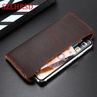 SZLHRSD Genuine Leather Wallet Case For Xiaomi Mi 6X Pouch Cases bag for Xiaomi Mi Max 3/ Redmi 5 Plus/Mix 2S/Mi Max 2/A1 Mi 8