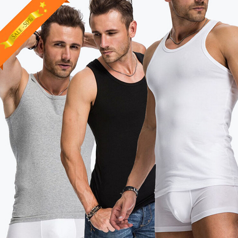 2019 Casual Tank Tops Undershirts Mens Soft Stretchable Bodybuilding Seamless Underwear Vest