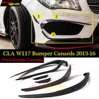 For CLA W117 Front lip Splitter Flap Canard fits Carbon Fiber CLA-Class W117 CLA180 CLA200 CLA250 CLA45 2013-2016 2 pieces Small