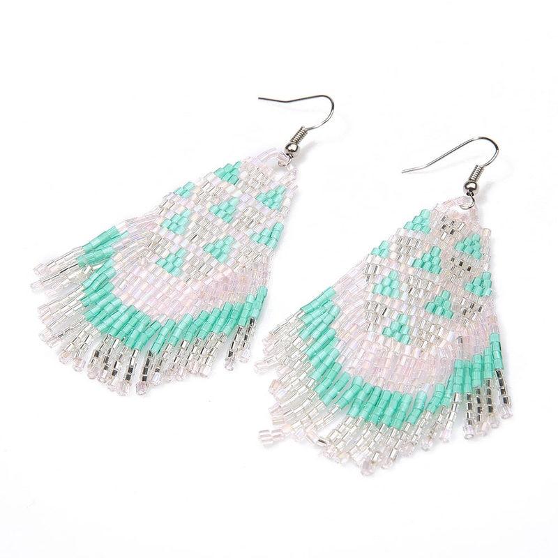 Ethnic Long Tassel Boucles d/'oreilles BOHO eye Beads Design Boucles d/'Oreilles Pendantes Femme