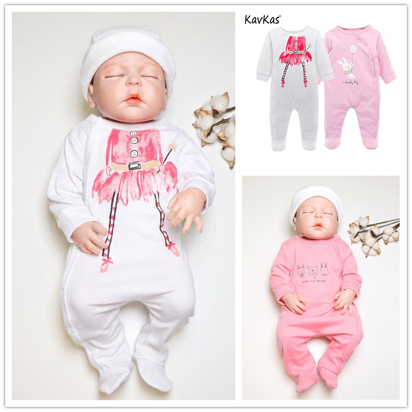 Kavkas 2018 Baby Rompers 2pcs/lot Long Sleeve Cotton Winter Baby Girls Clothes Roupa De Bebes 0 3 6 9 12 Months Full Jumpsuit