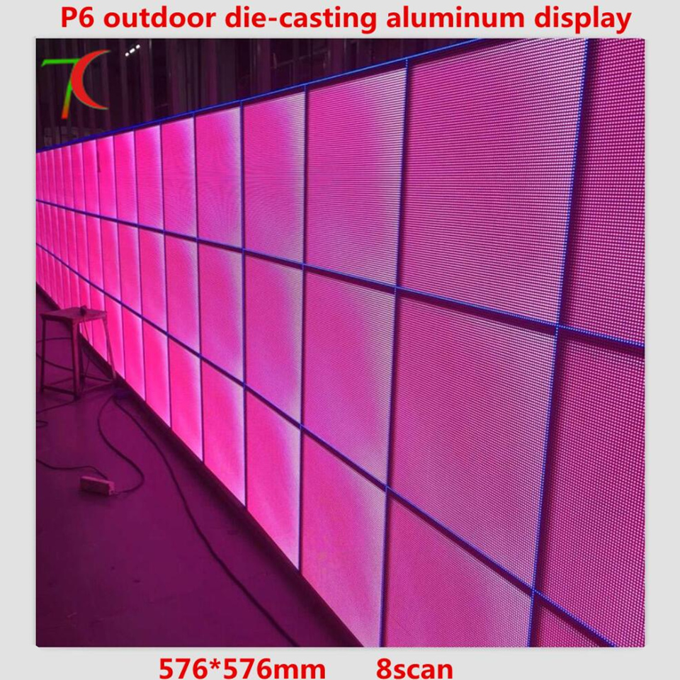 P6 576*576mm Outdoor Waterproof HD SMD Full Color Die-casting Aluminium Equipment Cabinet  /8scan 27777dots/m2