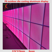 P6 576 576mm outdoor waterproof HD SMD full color die casting aluminium equipment cabinet 8scan 27777dots