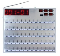 Wireless hospital board receiver, nurse call bell system display 3 digits and bed number, Wireless Patient Call Buzzer