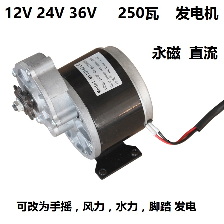 High power low speed permanent magnet DC generator 12V 24V 36V 250W/350W wind hand cranked hydraulic foot battery
