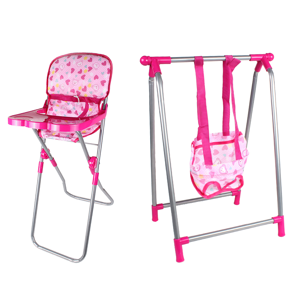 9-12inch Reborn Doll High Chair & Swing Set Nursery Room Furniture Decoration