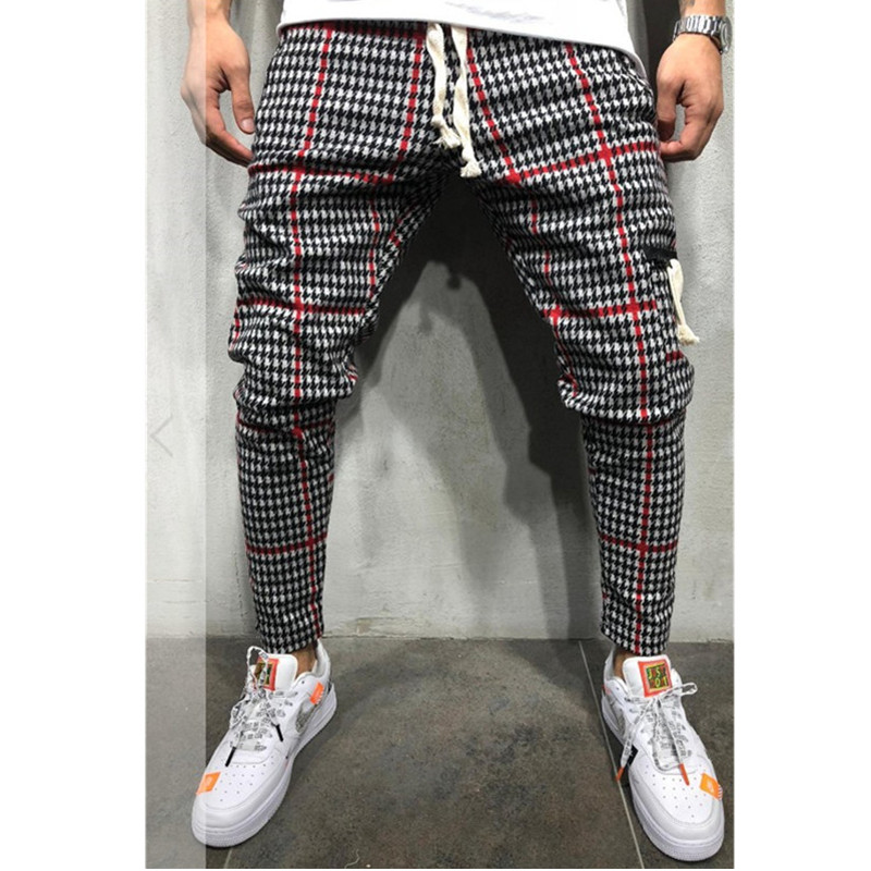 2019 Men's Twill Fashion Jogger Pants New Stripes Urban Straight Casual Pants Slim Fitness Long Pants Hip Hop Pants