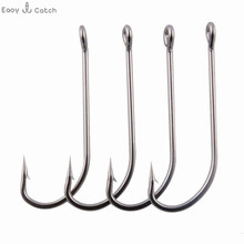 30pcs 34007 Stainless Steel Fishing Hooks Long Shank Saltwater Carp Fishhooks Size 2/0 3/0 4/0 5/0 6/0 7/0 8/0 9/0 10/0