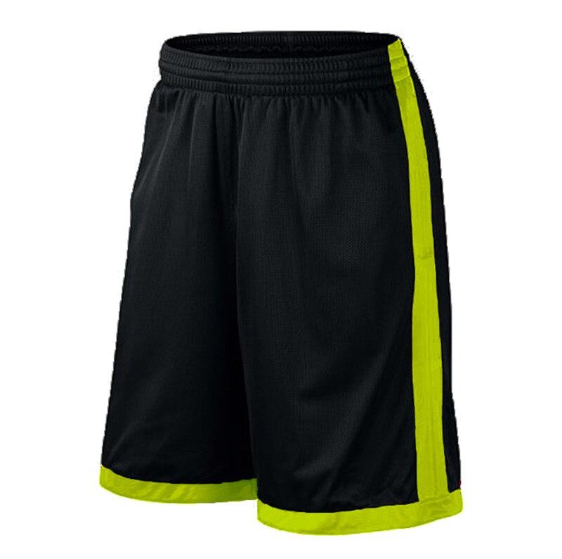 Баскетбольные шорты размера плюс, мужские спортивные шорты, мужские быстросохнущие баскетбольные шорты с карманами, баскетбольная майка высокого качества - Цвет: Black green