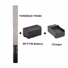 YONGNUO YN360 Handheld LED Video Light 3200k 5500k RGB Colorful 39.5CM + BATTERY + Charger