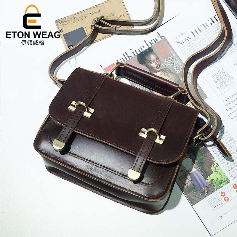 ETONWEAG Luxury PU Leather Messenger Bags Handbags Women Famous Brands Brown Vintage Crossbody Shoulder Bag Ladies Hand Bags
