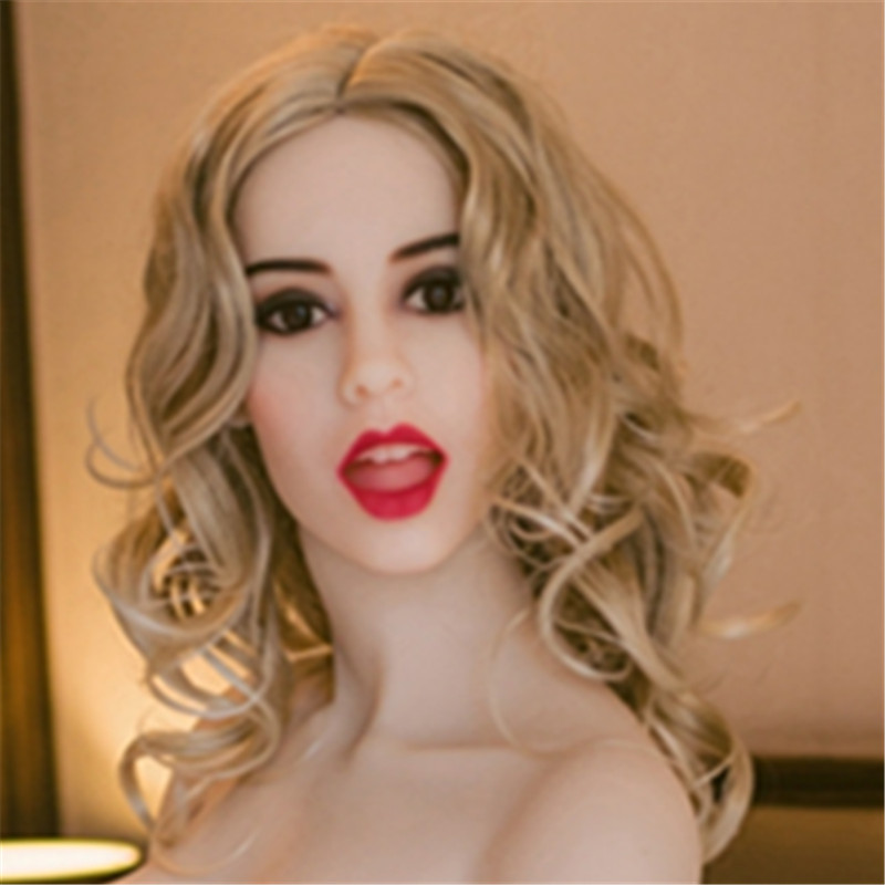Adult sex doll head with open mouth for 140cm 170cm full body silicone sex doll sex man toy