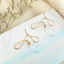 Punk Charm Gold Alloy Geometric Earrings Hollow Spiral Stud for Women Ladies Tribal Gear Earring Delica Jewelry