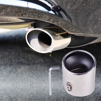 DWCX Chrome Stainless Steel Exhaust Pipe Tail Rear Muffler Tip Pipes For Honda Accord 2 0