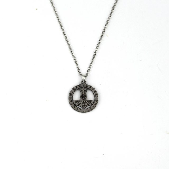 Online Shop Gothic Thors Hammer Pendant Necklace Mens Gothic