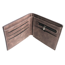 With coin bag men's PU leather Wallet male purse clutch card