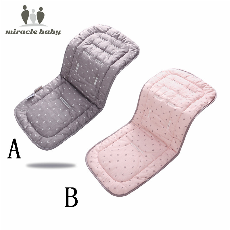 Miracle Baby Cotton Baby Stroller Cushion Seat Pad Infant Diaper Pad Changing Mat Seat Pad For Unisex Pram Stroller Accessories