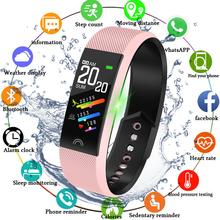 LIGE 2019 nowych Smart watch kobiety mężczyźni tętna Monitor ciśnienia krwi inteligentny bransoletka Fitness Tracker Sport krokomierz Inteligentny zegar tanie tanio Android Wear 128 MB Passometer Uśpienia tracker Wiadomość przypomnienie Przypomnienie połączeń Pilot zdalnego sterowania
