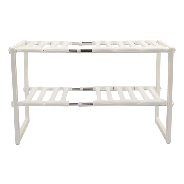 kitchen shelf unit compact sink rack organiser adjustable removeable under storage tidy