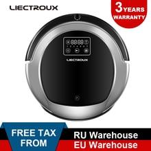 Купить с кэшбэком (Free all)LIECTROUX Robot Vacuum Cleaner B6009,2D Map & Gyroscope Navigation,Water Tank,with MemoryVirtual Blocker,UV Lamp