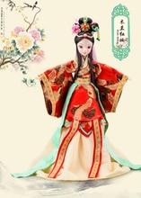 D0706 In box Best children girl gift 30cm Kurhn Chinese Doll Chinese myth Gift Traditional toy Mulan wedding dress 1pcs