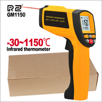 RZ Digital Handheld Gun Non Contact Infrared Thermometer Laser Pyrometer Professional Industrial Temperature Gun Ir Tester