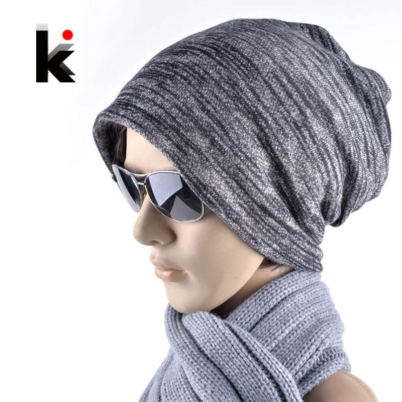 2017 Autumn and winter mens skullies pocket turban cap hip-hop hat turban beanie hats for man and women beanies skullies