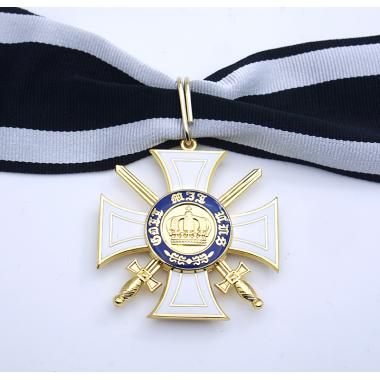 EMD Order Of The Prussian Crown 2nd Class With Swords2