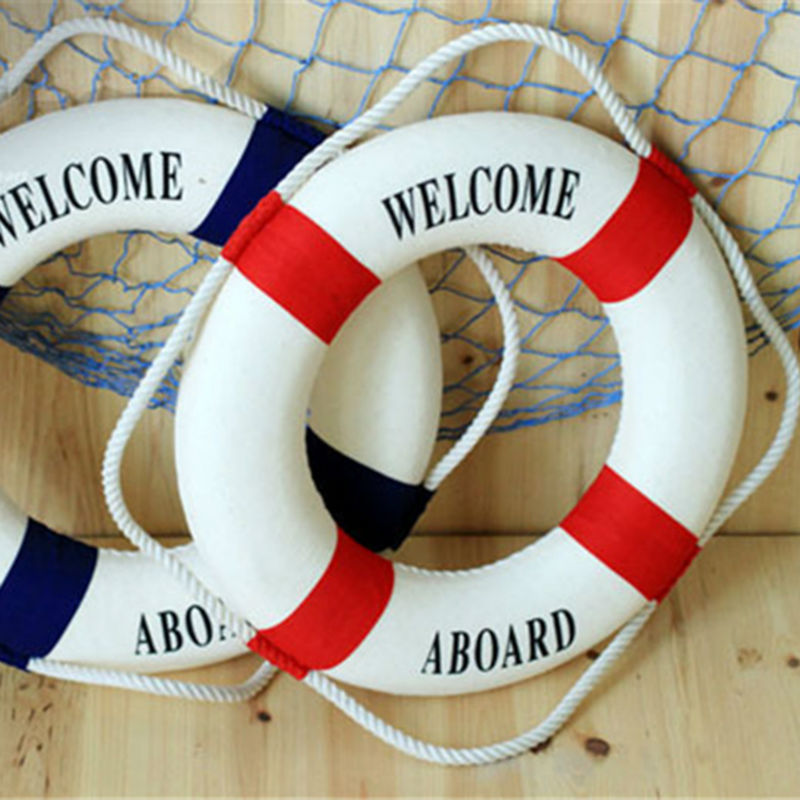 Umiwe Navy Style Lifebuoy <font><b>Home</b></font> <font><b>Decor</b></font> <font><b>Nautical</b></font> Welcome Aboard Decorative Ring Room Bar <font><b>Home</b></font> Decoration