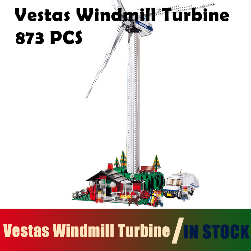 Compatible with Lego Technic building blocks 4999 model 37001 873pcs Creative Vestas Windmill Turbine bricks toys for children lepin 02012 city deepwater exploration vessel 60095 building blocks policeman toys children compatible with lego gift kid sets
