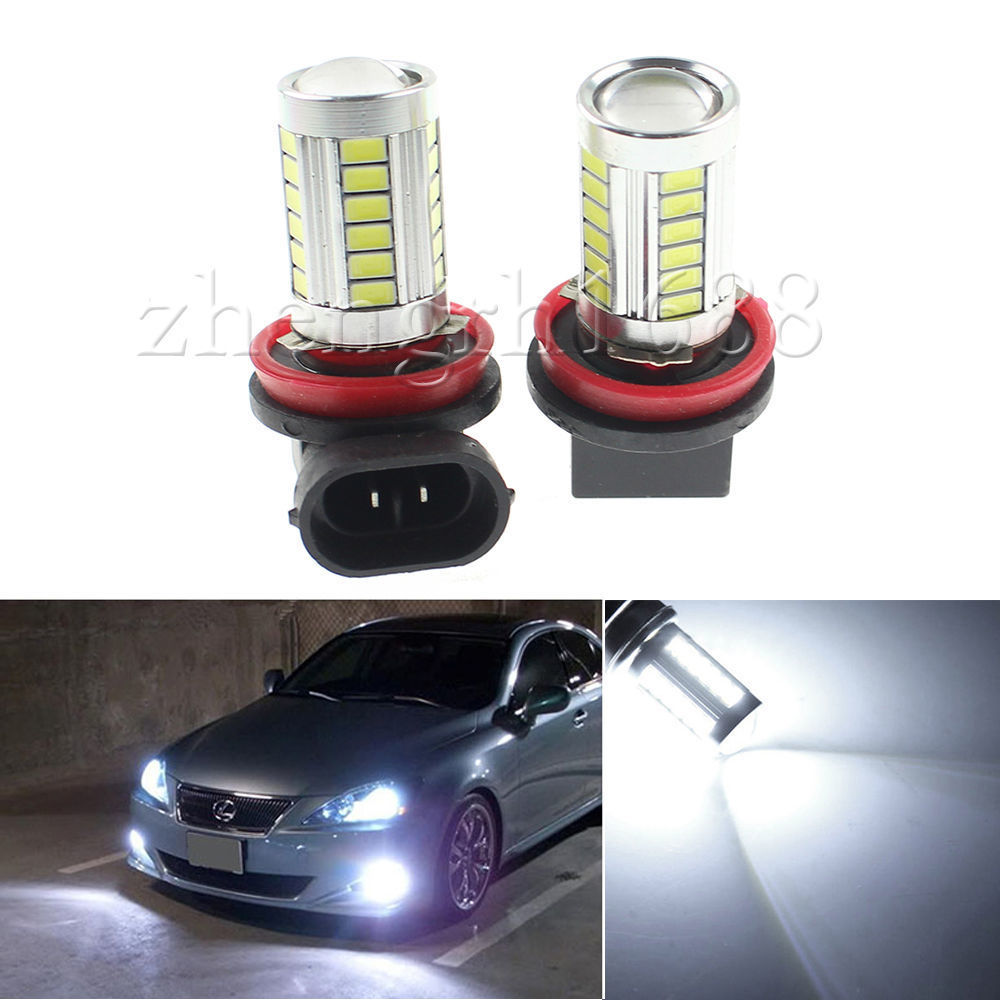 2pcs H8 H9 H11 33 SMD 5630 Car Led  Fog Lamps 33SMD Auto Rear Reverse Bulbs Daytime Running Light Turn signal  White yellow Blue2pcs H8 H9 H11 33 SMD 5630 Car Led  Fog Lamps 33SMD Auto Rear Reverse Bulbs Daytime Running Light Turn signal  White yellow Blue
