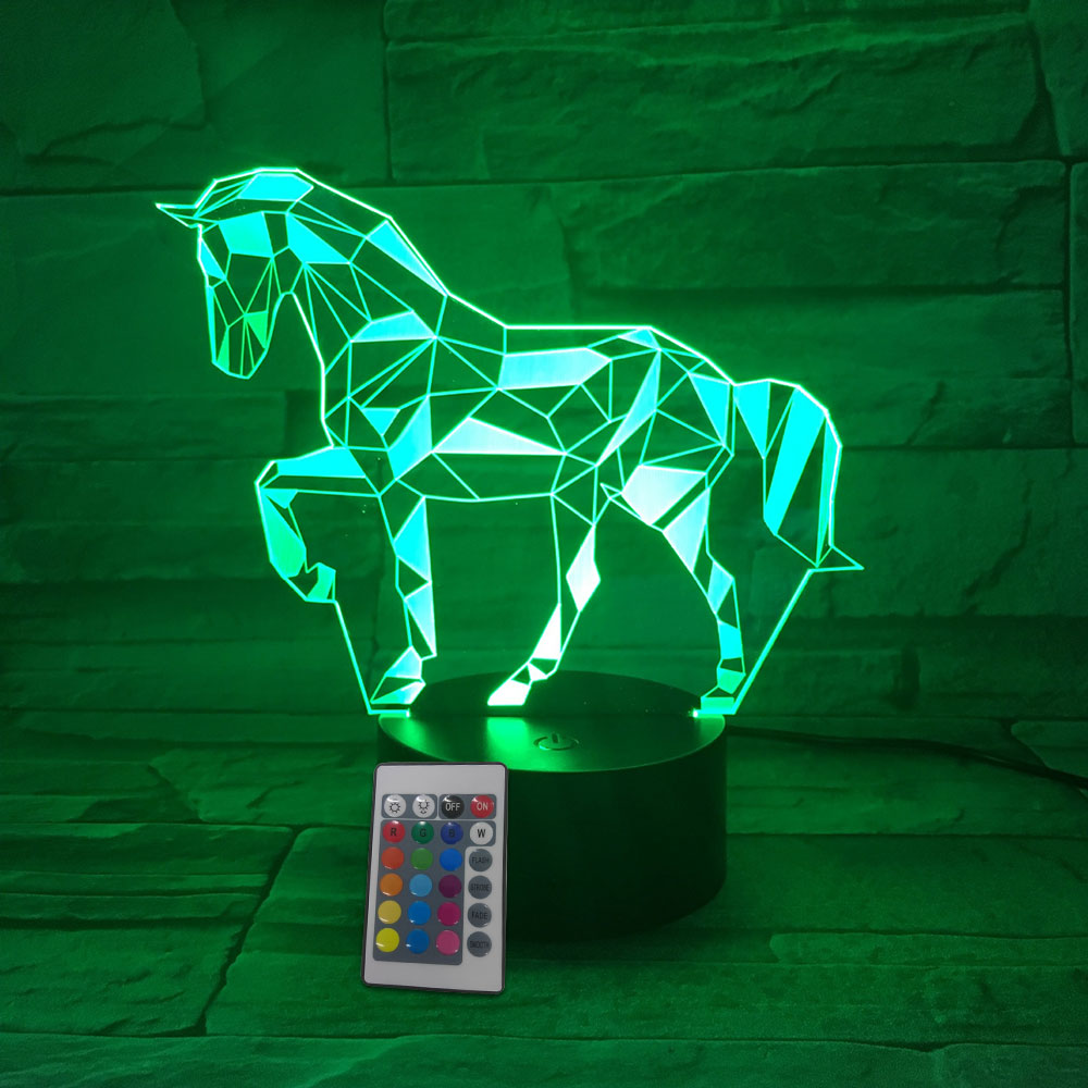 Modern Cute Table Lamp Night Light Desk Light Horse Shape 10*4cm LED Christmas Xmas Gifts Indoor Lighting Decoration Cartoon free shipping remote control colorful modern minimalist led pyramid light of decoration led night lamp for christmas gifts