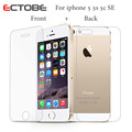 ECTOBE 0.26mm Premium 2 pcs/lot Front + Back for iPhone 5 5s 5c SE Anti-scratch Tempered Glass Screen Protector protective Film