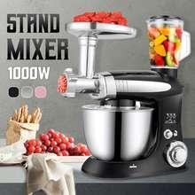 Multifonctionnel support mélangeur 6 vitesses électrique alimentaire mélangeur mélangeur 1000W hachoir à viande robot culinaire oeuf batteur outils de cuisine