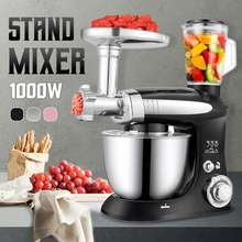 Multifunctional Stand Mixer 6 Speed Electric Food blender Mixer 1000W Meat Grinder Food Processor Egg Beater Kitchen Tools